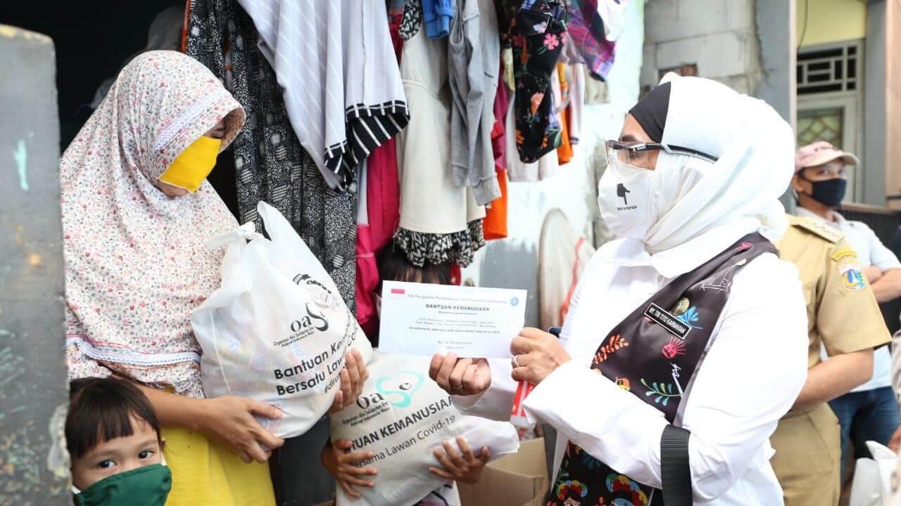 Pandemi Covid-19, OASE-KIM turun langsung beri bantuan pada warga Jakarta